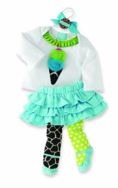 Mud Pie Baby-girls Newborn Giraffe Skirt Set