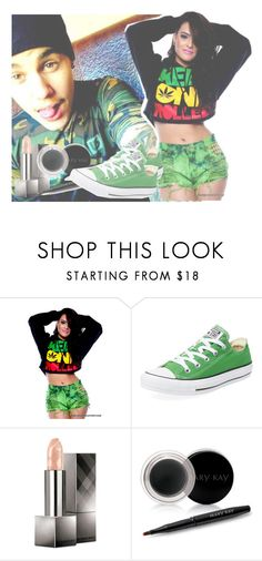 """""""Hanging Out With Justin Bieber..."""" by kaykay-mara ❤ liked on Polyvore featuring Converse, Burberry and Mary Kay"""