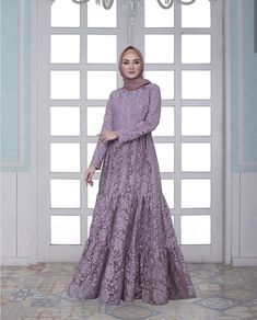 Hijab Style Dress, Dress Brukat, Muslimah Wedding Dress, Kebaya Dress, Dress Pesta, Maxi Dresses, Party Dress, Dress Brokat Muslim, Muslim Dress