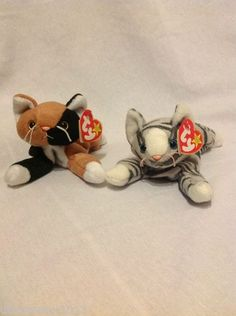 2e66429970f Lot of 2 Retired TY Beanies Prance and Chip Original Beanie Babies Original Beanie  Babies
