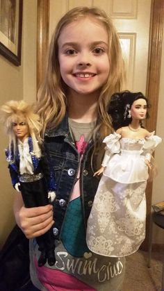 Lady transforms Barbies into Labyrinth dolls for her daughter. The results are amazing! I bet the hardest part was Jareth's hair. At least it's kind of supposed to look wacky.