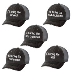 109d92c3 I'll Bring the Alcohol Distressed Ladies Baseball Hat | Mesh | Trucker |  Funny