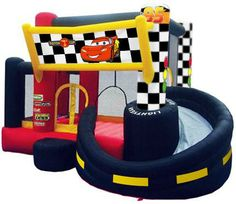 Cars Inflatable Bouncer w/ Slide & Ball Pit Disney Cars Games, Disney Cars Party, Disney Cars Birthday, Cars Birthday Parties, Birthday Party Games, 4th Birthday, Birthday Ideas, School Birthday, Birthday Stuff