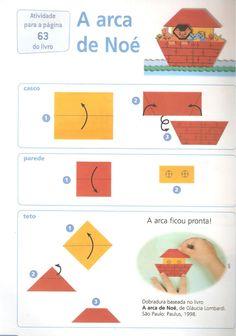 Een ark vouwen met kleuters / arca