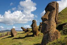 Moai from Rapa-Nui, Easter Island, Chile