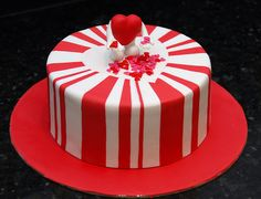 fondant valentine cake topper ideas - Google Search