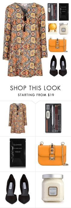 """""""SHOUTOUT TO  @itsfashioninfinity"""" by dianakhuzatyan ❤ liked on Polyvore featuring Glamorous, Polaroid, Cleanse by Lauren Napier, Valentino, Steve Madden and Laura Mercier"""