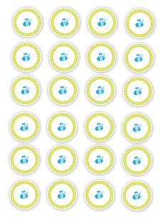 Winnie the Pooh Cupcake toppers for Baby Shower or First Birthday Free Download