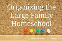 Organizing the Large Family Homeschool