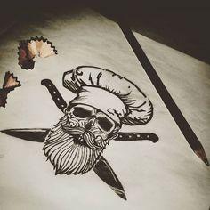 Resultado de imagen para tatuajes de cuchillos de chef