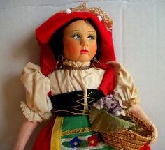 Vintage  Italian Cloth Doll Magis Roma by VintageHomeShop on Etsy, $25.00