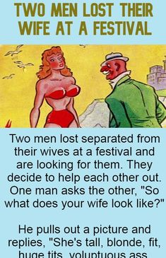 Two Men Lost Their Wife at A Festival - A Trending Celebrity Buzz Funny Marriage Jokes, Love Marriage Quotes, Funny Relationship Jokes, Wife Jokes, Wife Humor, Husband Humor, Love And Marriage, Wtf Funny, Funny Texts