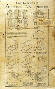how to build an anderson shelter ww2 instructions. So this is where the Ikea idea came from.