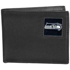Seattle Seahawks Leather Bi-fold Wallet