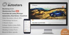 Download and review of Auto Stars - Car Dealership and Listings WP Theme, one of the best Themeforest Corporative themes