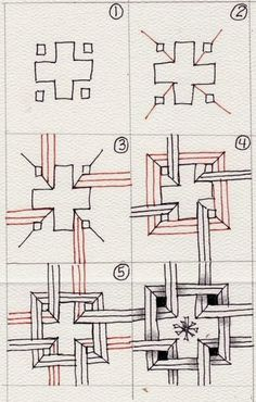 Zentangle Zendoodle Doodle Art Pen and Ink Drawing Zentangle Drawings, Doodles Zentangles, Doodle Drawings, Doodle Art, Easy Zentangle Patterns, Doodle Patterns, Tangle Doodle, Tangle Art, Pattern Drawing