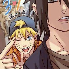 Uzumaki Naruto and Uchiha Sasuke Anime Art Naruto Uzumaki Shippuden, Naruto Shippuden Sasuke, Sasunaru, Anime Naruto, Naruto Und Sasuke, Naruto Team 7, Naruto Boys, Naruto Cute, Shikamaru