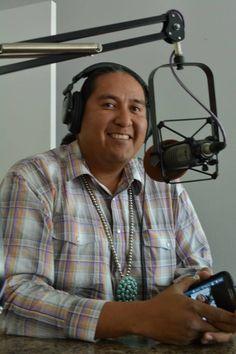 In studio 49 is Pow-wow MC's Erny Zah (Navajo/Jicarilla Apache/Choctaw) of the Navajo Nation.