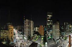 Vista panorâmica da Avenida Paulista, em São Paulo (SP)