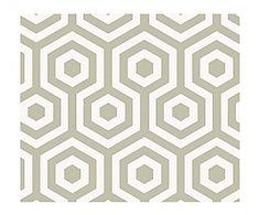 Behang Hexagono wit en grijs