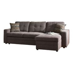 Coaster Fine Furniture Gus Charcoal Chenille Sectional
