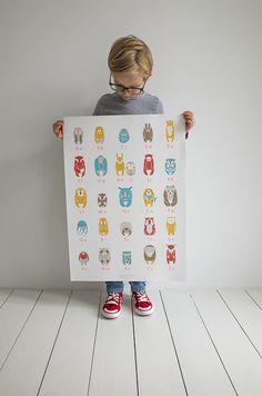 Wand-Deko - • ABC-Plakat von 'zenzi design & Söhne' - ein Designerstück von zenzi-design bei DaWanda