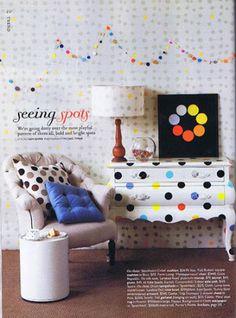 Painel de inspiração polka dots + Decoração | Andrea Velame Blog