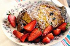 Panettone French toast. Also have done this with chocolate panettone and it is absolutely divine. Almost soufflé like.
