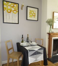 A table for two in the corner of Anna's sunny living room   At home in London   live from IKEA FAMILY