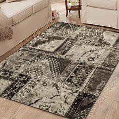 Kelsie Geometric Ivory Area Rug – Area Rugs on hardwood Transitional Area Rugs, Carpet Stairs, Patchwork Designs, Hand Tufted Rugs, Shabby Chic Style, Indoor Rugs, Dining Area, Hardwood, Ivory