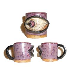 Miniature Ceramic Eye Cups for use as espresso by aberrantceramics