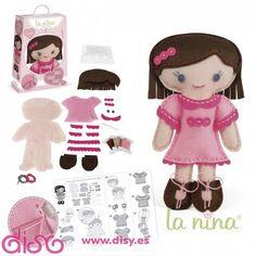 Muñecas de fieltro para niñas. La novedad de este año de La Nina la puedes comprar en Disy.es