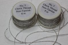 Silver Check Thread Read the article on the Ecclesiastical Sewing link