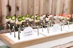 buffet table fork display