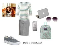 """Back to school cool"" by countrybluegrasschick ❤ liked on Polyvore featuring NYDJ, Fat Face, Vans, Kate Spade, Valentine Goods, JanSport and Forever 21"