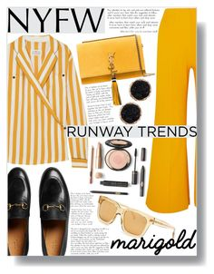 """NYFW Daily Trend: Yellow"" by sc-styles ❤ liked on Polyvore featuring Maison Margiela, Alaïa, Humble Chic, Gucci, Yves Saint Laurent and Linda Farrow"