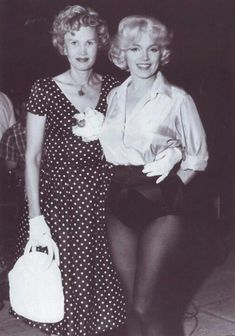 Marilynwith columnist May Mann On Set Of Let's Make Love;1960