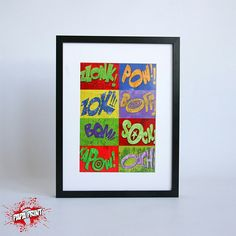 """""""Kapow"""" Print in A4 and A3"""