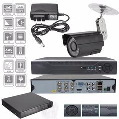 960H 4CH CCTV 1080P DVR Surveillance Kit + 900tlv Analog HD 4-way Monitoring Suite for Camera Security System