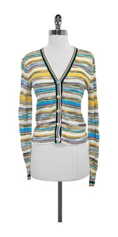 Missoni Multi-Color Striped Knit Cardigan partners with matching Tank