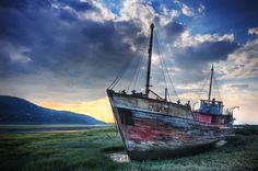 Shipwreck on the shoreline by a beautiful morning, near Baie St-Paul, in Charlevoix region of Quebec Grand Tour, Baie St Paul, Charlevoix, Destinations, Canadian Travel, Canada, World Pictures, Beautiful Morning, Shipwreck
