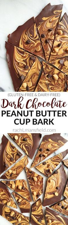 Dark Chocolate Peanut Butter Cup Bark! An easy and delicious vegan, gluten & grain-free dessert. Perfect for your sweet tooth cravings!