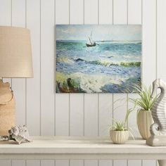 Best coastal wall decor and beach themed wall art for your home. We have some of the absolute best beach style wall decorations including canvas art, wall art, metal art, wooden beach signs, and more. Coastal Wall Decor, Beach Wall Decor, Painting Prints, Watercolor Paintings, Oil Paintings, Canvas Online, Dutch Artists, Art Themes, Vincent Van Gogh