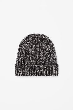 Melange knit hat