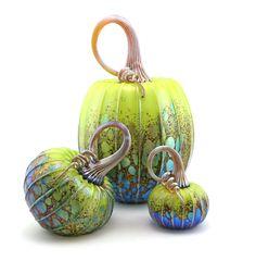 Jack Pine - The Laughing Dog Gallery Glass Pumpkins, Fall Pumpkins, Oyster Shell Crafts, Glass Floats, Organic Art, Pumpkin Art, Hand Thrown Pottery, Wow Art, Hanging Tapestry