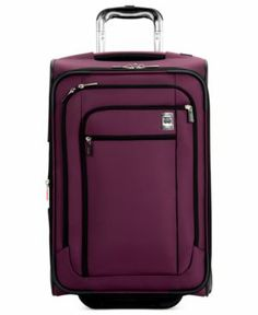 """Delsey Helium Sky 21"""" Rolling Carry On Expandable Suitcase"""