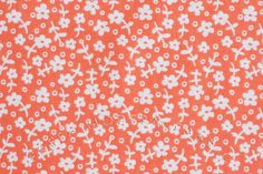 Half Yard Wallpaper Flowers in Coral Children by FreshModernFabric, $3.50
