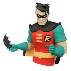 Hucha Robin 20 cm. Batman: la serie animada. Diamond Select Estupenda hucha del conocido personaje de Robin de 20 cm de altura, fabricada en material de vinilo y 100% oficial y licenciada visto en Batman: la serie animada. Es perfecta como detalle a todos los fans de esta serie.