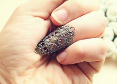 Retro Vintage Lace Nail Ring  Free Shipping  Made by kellyatlarge, $13.00