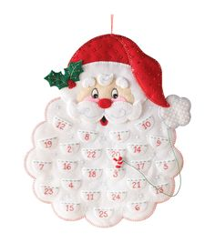 Bucilla Calendar Felt Applique Kit - Santa's Beard Advent